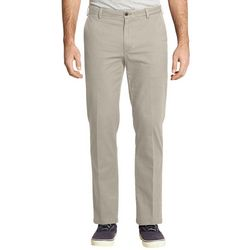 IZOD Mens Saltwater Stretch Straight Leg Flat Front