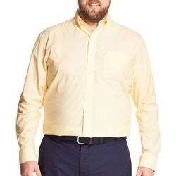 IZOD Mens Big & Tall Solid Button Down Long Sleeve Shirt