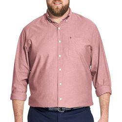 IZOD Mens Big & Tall Solid Oxford Shirt