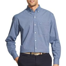 IZOD Mens Big & Tall Checkered Long Sleeve Shirt