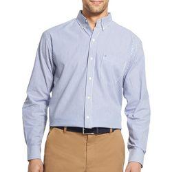IZOD Mens Big & Tall Vertical Stripe Long Sleeve Shirt
