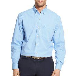 IZOD Mens Big & Tall Gingham Long Sleeve Shirt
