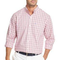 IZOD Mens Small Plaid Button Down Long Sleeve Shirt
