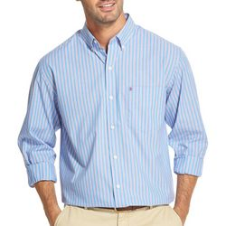 IZOD Mens Striped Button Down Long Sleeve Shirt