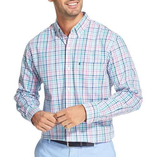 3707929e7 IZOD Mens Roadmap Plaid Button Down Long Sleeve Shirt | Bealls Florida