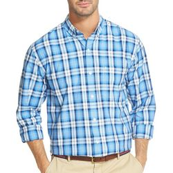 IZOD Mens Plaid Woven Long Sleeve Shirt