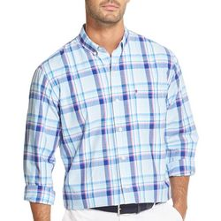 IZOD Mens Plaid Long Sleeve Woven Shirt