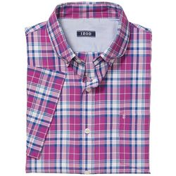IZOD Mens Pastel Plaid Button Down Shirt