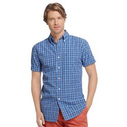 IZOD Mens Dockside Plaid Woven Button Down Shirt
