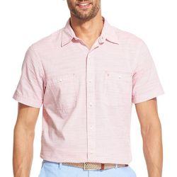 IZOD Mens Mini Stripe Woven Button Down Shirt