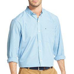 IZOD Mens Small Plaid Woven Long Sleeve Shirt