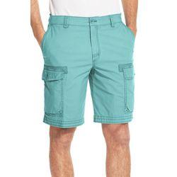 IZOD Mens Pigment Dyed Stretch Cargo Shorts