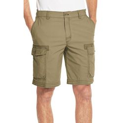 IZOD Mens Pigment Dyed Stretch Cargo Shorts
