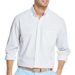 IZOD Mens Tattersall Woven Button Down Shirt