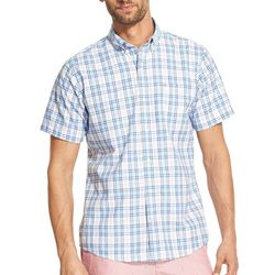 IZOD Mens Plaid Woven Button Down Shirt