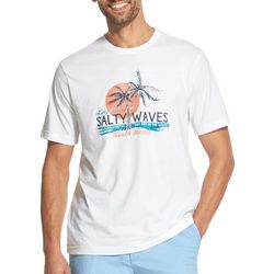 IZOD Mens Saltwater Salty Waves T-Shirt
