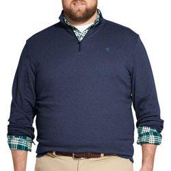 IZOD Mens Big & Tall Advantange Premium 1/4 Zip Sweatshirt
