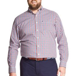 IZOD Mens Big & Tall Premium Natural Stretch Plaid Shirt