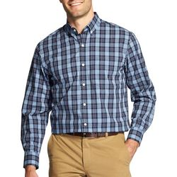 IZOD Mens Big & Tall Plaid Button Down Long Sleeve Shirt