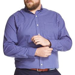 IZOD Mens Big & Tall Premium Essentials Gingham Shirt