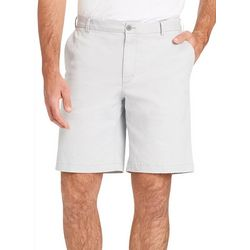 IZOD Mens Solid Saltwater Chino  Shorts