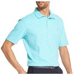 IZOD Mens Premium Essentials Geo Short Sleeve Polo Shirt