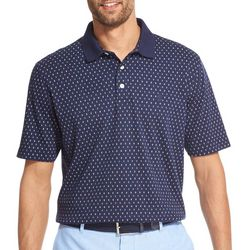 IZOD Mens Premium Essentials Geo Short Sleeve Polo Shirt