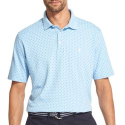 IZOD Mens Premium Essentials Diamond Short Sleeve Polo Shirt