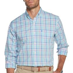 IZOD Mens Premium Essentials Multi Gingham Button Down Shirt
