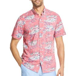 IZOD Mens Dockside Island Woven Button Down Shirt