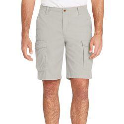 IZOD Mens Flat Front Mini Ripstop Shorts