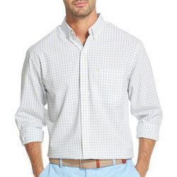 IZOD Mens Tattersall Woven Button Down Shirt