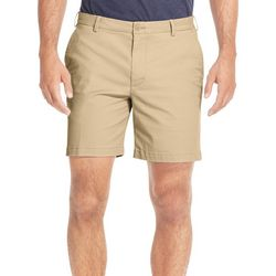 IZOD Mens Saltwater Solid Stretch Flat Front Shorts