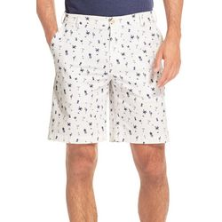 IZOD Mens Saltwater Stretch Tropical Print Chino Shorts