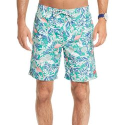 IZOD Mens Flamingo Print Swim Trunks