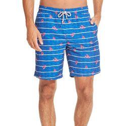 IZOD Mens Lobster Stripe Swim Trunks