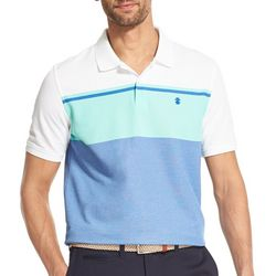 IZOD Mens Advantage Performance Colorblock Polo Shirt