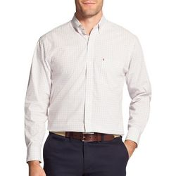 IZOD Mens Premium Essentials Stretch Mini Plaid Shirt