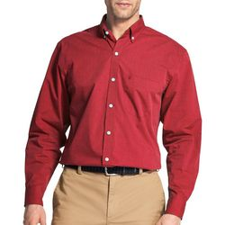 IZOD Mens Solid Woven Long Sleeve Shirt