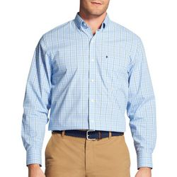 IZOD Mens Premium Essentials Stretch Plaid Long Sleeve Shirt