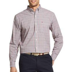 IZOD Mens Premium Essentials Stretch Plaid Print Shirt