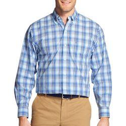IZOD Mens Premium Essentials Stretch Tartan Plaid Shirt
