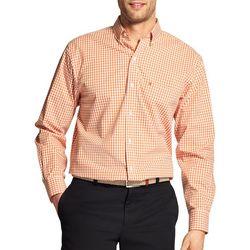 IZOD Mens Gingham Long Sleeve Woven Shirt