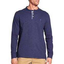 IZOD Mens Solid Henley T-Shirt