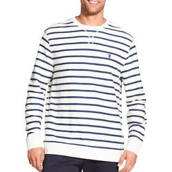 IZOD Mens Striped Cotton Pullover Sweater