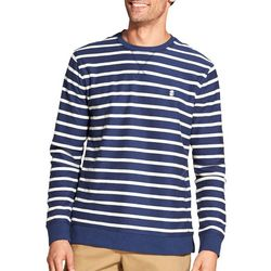 IZOD Mens Stripe Print Cotton Pullover Sweater