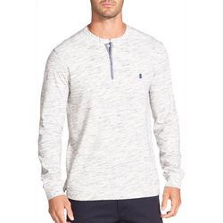 IZOD Mens Space Dye Henley Pullover Sweater
