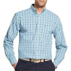 IZOD Mens Premium Essentials Stretch Plaid Button Up Shirt