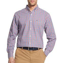 IZOD Mens Premium Essentials Stretch Mini Plaid Print Shirt