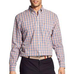 IZOD Mens Premium Essentials Stretch Plaid Woven Shirt